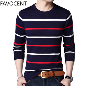 Pullover Men's Brand Clothing 2020 Spring Wool Slim Knitted Sweater Men's Casual Striped Pull Shirt Wild Shirt