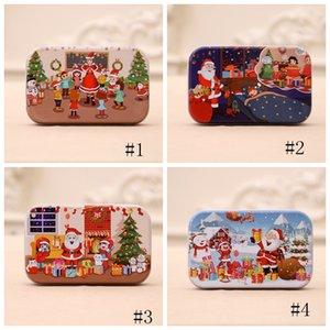 60pcs / Conjunto de Navidad rompecabezas de madera de los niños juguetes de Santa Claus muñeco de nieve doble Jigsaw niños temprana de rompecabezas educativo de regalo Decoración nueva GGA3678