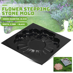 Decorative Stepping Stone Mold Flower Pavement mold Concrete Cement PP For Park Garden DIY Path Maker