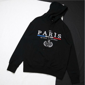 Estilista de París clásico Corona de la bandera del bordado de la sudadera con capucha de la calle para mujer para hombre Pullover sudaderas otoño invierno suéter Outwear HFYMWY288