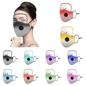 10 Gradiente de color desmontaje mascarillas protección para los ojos careta de protección adecuado para adultos y niños PM2.5 máscaras lavables transpirables