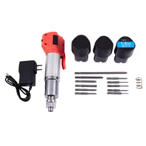 12V Carga taladro destornillador eléctrico Directo En Multi-Función de litio eléctrica caña recta taladro inalámbrico