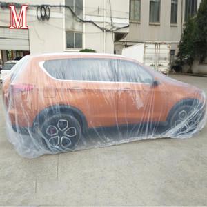 Vücut plastik araba örtüsü toz geçirmez yağmur geçirmez UV dayanıklı koruyucu