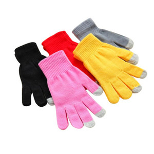 Touch Screen Gloves Men Women Winter Warm Mittens Female Winter Full Finger Stretch Comfortable Breathable Warm Glove LX3383
