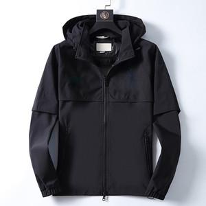 NEW mans Designer-Jacke Qualitäts-T-Shirts Herren-Jacke Herbst Winter Frühling Luxus-Kleidung Schwarz-weiße Stickerei Brief Mantel