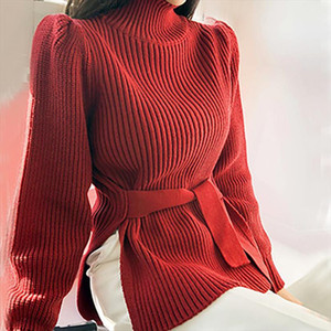 Turtleneck Pullover Sweater Pink Black White Cropped Blusa Tricot Fall 2019 Korean Style Women Ropa Invierno Mujer Elegant Pull
