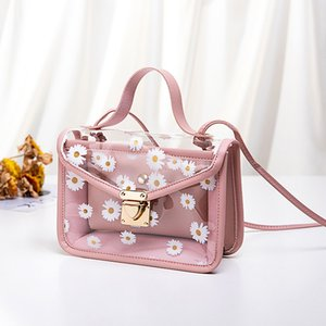 Zou Ju Impression à chaud de vente coréenne style épaule sac transparent Mère et enfant Petite Place Sac 2020 nouvelles femmes Messenger Bag en gros