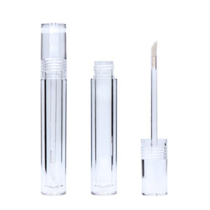 7.8ML 5.5ml Lipgloss Tubes Round Transparent Lip Gloss Tubes With Wand Empty Lip Gloss Tubes Clear