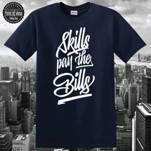 Street Wear-T-Shirt Fähigkeiten Pay The Bills Street Art Lil Wayne Jay Z David West Light Herren T-Shirts 2017 Arbeiten Sie bequeme