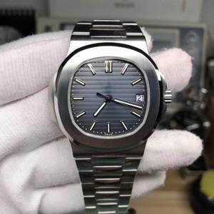PATEK PHILIPPE 9 modo di stile 40mm di alta qualità GMT classico orologio PP Nautilus 5711 / 1A 010 mens trasparenti uomini meccanici automatici della Mens Watc hrnT #