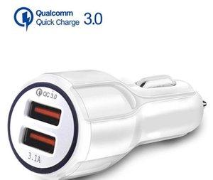 Cgjxs верхнего качества Qc 3 +0,0 Fast Car Charge 3 .1a Быстрая зарядка Автомобильное зарядное устройство двойной USB быстрой зарядки телефона зарядное устройство для Samsung Tablet