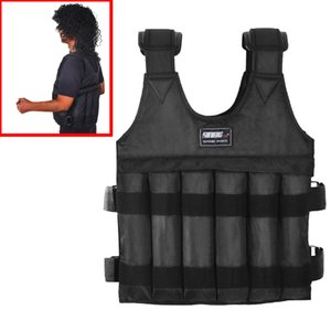 44LB Adjustable Workout Weighted Vest Exercise Strength Training Fitness