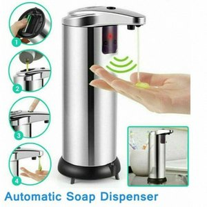 Automatic Soap Dispenser Liquid Soap Dispensers Stainless Steel Sensor Dispenser 250ml Handsfree Dispensers Bath Toys CCA12287 50pcs IOMh#