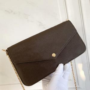 Femme Sac Code Date boîte originale bourse de sac à main mode damier gros carreaux fleur
