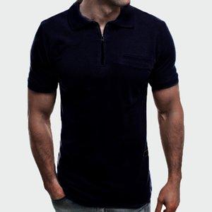 الرجال بولو 2021 الصيف الرجال بارد قمصان عارضة قصيرة الأكمام أزياء رجالي سليم سستة قمم تيز الفقرة ho 3xl ml250