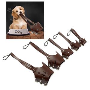 Köpek Karşıtı Isırma Maske Ayarlanabilir Pet Koruyucu Ağız Kapak Anti Bark PU Nefes Yumuşak Ağız Namlu Bakım Durdurma 5 Boyut BH0979-5 MÖ Chew
