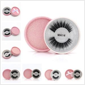 3D Faux Mink ciglia False Protein visone ciglia 3D Silk Lashes 100% non falso fatto a mano naturale degli occhi Lashes Con Confezione Regalo 24 stile DHL
