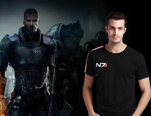 N7 Mass Effect 3 T Shirt Men Systems Alliance Military Emblem Game Tee T-shirt Cotton Men Free Shipping Wholesale Y19060601