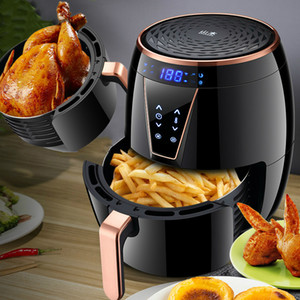 4.5L Large Capacity Multifunctional Air Fryer LCD Touch Electric Hot Air Oil Free Smokeless Roast Chicken Oven Kitchen Cooker