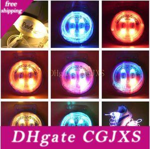 100pcs (50 paires) Mode lumineux Led Lacet fonctionnement électronique flash LED lumières pour la nuit Sport Disco Party Glow Lacets