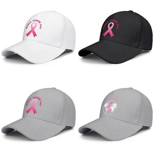 Fashion Baseball Cap World Cancer Day logo Pink gradient 4th Adjustable Ball Hat Cool Personalized Trucker Cricket pink earth vector
