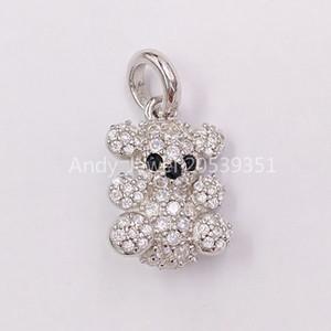 Autentico 925 ciondoli in argento sterling 925 oro bolla con pendente orso adatti regalo di stile europeo orso gioielli 914264110