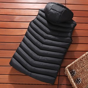 Mens Winter Sleeveless Jacket Men Down Vest Men's Warm Thick Hooded Coats Male Cotton-Padded Work Waistcoat West Homme Vests 200922