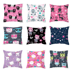Home Furnishing o un'immagine 45 * 45cm Living Room Divano gatto bello del fumetto Cuscino decorativi si dirigono sedia cuscino di tiro Caso VT1511