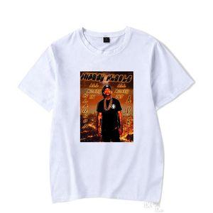 Nipsey koşuşturmasından Rap Erkek tişörtleri Hiphop 3D Baskılı Tişörtler Casual Kısa Kollu O Boyun Kazak Erkek Giyim Tops