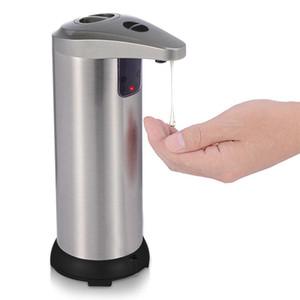 비누 분배 비접촉식 자동 비누 디스펜서 핸드 프리 모션 센서 액체 접시 비누 디스펜서 스테인레스 스틸 방수