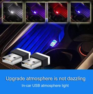Neon USB LED Light Luz de Modelagem atmosfera ambiente lâmpada portátil Car Luz Interior 7 Cores Acessórios Car