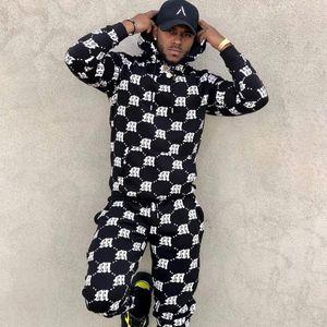 Hommes Survêtement New Automne / jeux de mode d'hiver à capuchon mince ensembles imprimés hommes de survêtement des hommes de costume de sport de costume décontracté