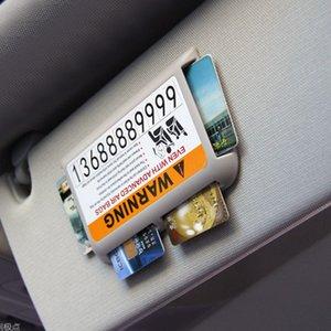 Titular 1PCS del coche Visera de 4 vías parasol tarjeta de almacenaje del organizador de bolsillo