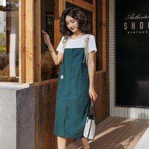 k34Ub neue Frauen NU68R eingestellt 2020 Schlinge Straps Schlinge Kleid Sommerkleid beliebte koreanische Frauen Denim-Hosenträgerrock Rock abnimmt zwei-pie