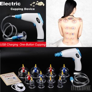 Original Elektro Schröpfen Geräte Set Startseite Akupunktur Magnetic Massage Scraping Schröpfen Art mit 12 Saugnäpfen