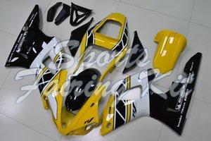 Carrocería para YZFR1 2000 - 2001 Amarillo Blanco Black Motorcycle Fairing YZFR1 01 Kits de cuerpo completo YZFR1 2000