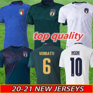 Новый 2020 италия прочь третьего футбол jersey20 21 Джерси Малия Италии рубашка футбол да калсио Verratti Жоржиего Romagnoli Неподвижных Бонуччей
