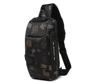 OZUKO Многофункциональный Crossbody сумка для мужчин Противоугонная плеча сумки Мужской Водонепроницаемая Короткие поездки Chest сумка