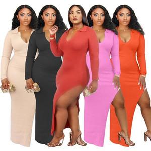 womens designer dress one piece dress long sleeve autumn skirt fashion bodycon dress sexy luxury klw5020