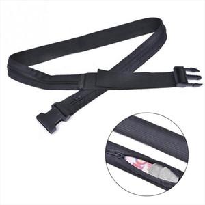 Voyage Anti Theft Wallet ceinture taille Clik avec compartiment secret Hiding Stash argent Nylon Safe Pouch Wallet Ticket Protect