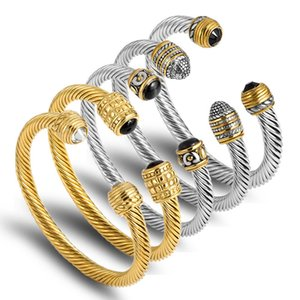 Fune Cavo in acciaio inox filo nuovo modo del braccialetto per gli uomini Ragazzo Semplice Wristband monili del regalo