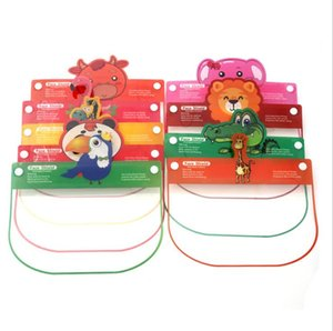Дети Cartoon Face Shield с Прекрасными животными шаблон ПЭТ противотуманного Защитной маской Дети изоляцией маски Безопасно Глава Visor Cover Party Mask