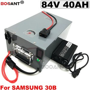 84V 40AH Electric bike Lithium Battery 1000W 2000W 3500W for Original Samsung 18650 with a Metal Box +5A Charger Free Shipping