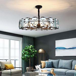 Chandelier lighting for hotel living room bedroom dining room new design crystal chandeliers lights high-end  black pendant lamps