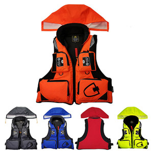 Professional Life Vest Fishing Polyester Adult Safety Life Jacket Survival Life Vest Swimming Boating Drifting