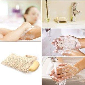 Neatening malha Soap Saver saquetas porta para o chuveiro Bath Espuma Natural Bath Bag Sisal sabão Bag dc632
