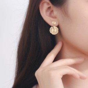 Silvology Ganoderma Boucles d'oreilles en or en argent sterling 925 champignons Creative Boucles d'oreilles longues pour femmes Bijoux mode cadeau