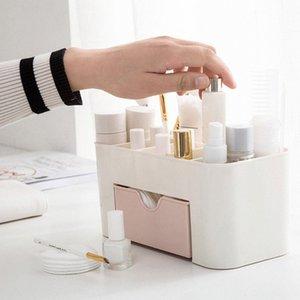 Gain d'espace de bureau comestics maquillage boîte de rangement en plastique tiroir de maquillage Organisateur Make Up Box stockage Organizador # 3Q6X #N