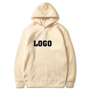 Пользовательский логотип Толстовки Женщины Мужчины DIY Logo Текст Фото пуловер Толстовка с карманом Moletom Hop Хип Streetwear