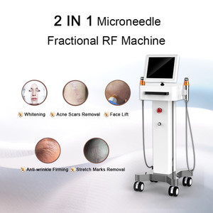 Beauty Equipment Fractional RF Microneedle Roller Stainless Steel RF Face Lifting Machine Laser Treatment For Acne Scars For Home